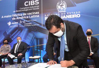 Governo do Estado, Fiocruz e Ministério da Saúde assinam escritura de terreno para fábrica de vacinas no Rio